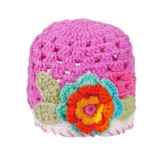 Gorgeous 0 2 Y Infant Baby Toddler Cotton Crochet Flower Hat Cap Beanie Rose