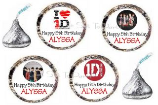 96 One Direction 1D Fan Boy Band Birthday Party Kiss Favors
