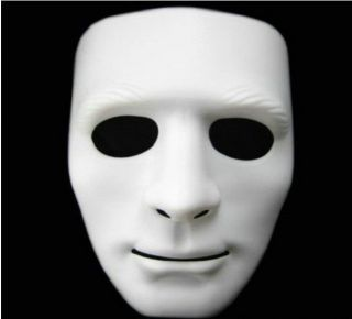 Horror Adult Drama Costumes Face White Masks for Halloween Party Dance The Props