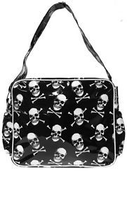 "Sourpuss ""Want Yer Skull"" Diaper Bag Baby Pirate Flash Tattoo Punk Rockabilly"