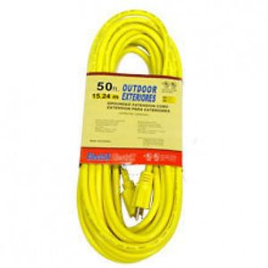 50 ft Foot Yellow 12 Gauge Wire 12 3 Power Cord Electric Electrical Extension