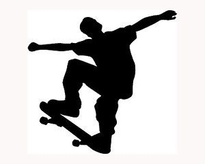 Skate Boarder Sticker Car Window Vinyl Decal Extreme Sports Skater Skateboard S2