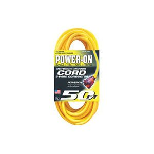 US Wire 74050 Extension Power Cord 12 3 50' Lighted End