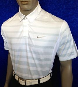 100 St L 2013 Nike Tiger Woods Stripe Golf Polo Shirt $90