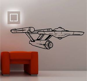 Star SHIP Enterprise Star Trek Wall Art Sticker Vinyl
