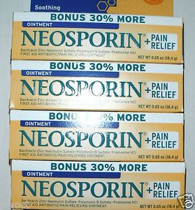 Lot 4 Tubes Neosporin Pain Relief Ointment First Aid Antibiotic 0 65 Oz