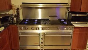 "Dynasty 60"" 6 Burner Pro Commercial Range Griddle Grill Double Oven High End"