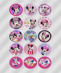 N398 Edible Image Birthday Decoration Cake Cookie Cupcake Toppers Mickey Minnie
