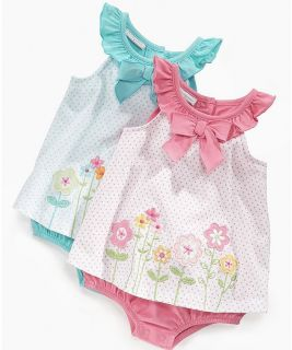 First Impressions Baby Girl Clothes Dress Sunsuit Blue Flower 3 6 9 Months