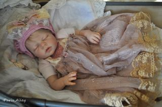 Sugar Cookie French Lace Dress Hat 4 Reborn Baby Doll