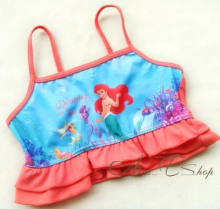 Girls Princess Ariel Mermaid Swimming Swim Costume Tankini Ages 2 7 Years BNWT