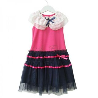 Girls Kids Pretty Summer Party Dress Tutu Skirt Costume Clohthing Ages 3 7 Years
