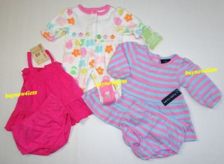 New 19 Piece Infant Baby Girls Clothes Dress Lot Preemie Newborn 0 3 6 9 Months