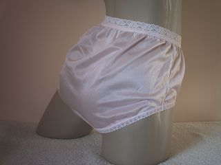 Gorgeous Soft Silky Baby Pink Vintage Style Full Cut All Nylon MIDI Panties M