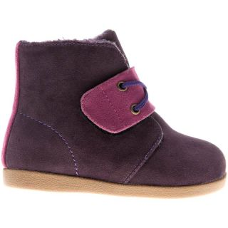 Girls Boys Toddler Childrens PU Suede Leather Boots Purple
