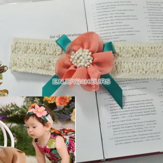 Bow Girls Baby Infant Headband Hair Clothing Accessories Toddler Children Flower