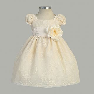Sweet Kids Girls Size 8 Ivory Blossom Embroidered Easter Dress