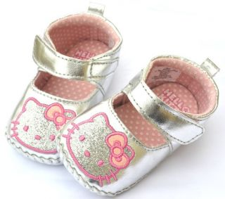 Silver Black Pink Mary Jane Toddler Baby Girl Shoes Size 2 3