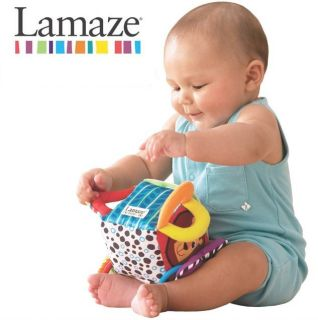 Infant Baby Kid Lamaze Peekaboo Mirror Rattle Crinkle Soft Plush Block Cube Toy