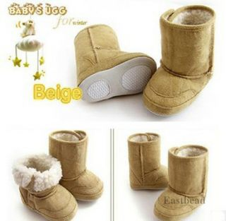 Warm Baby Boy Girl Snow Boots Infant Toddler Winter Fur Shoes 6 24M 3 Colors