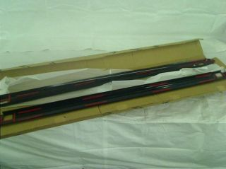 Wade 72 01451 Black Ribbed Finish Truck Bed Rail Caps with Stake Holes 2 Piece