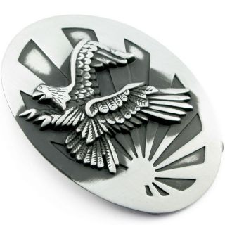 UA02 Animal Steel Belt Buckle Hawk Bull Dog Pig Snake Eagle Horse Rock Men Women