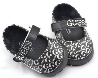 Black Infant Toddler Baby Girl Crib Shoes Mary Jane Shoes 0 18 Months
