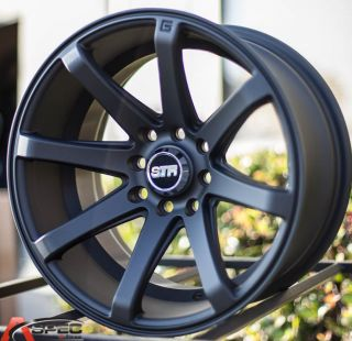 15x8 Str 519 4x100 4x114 3 15 Black Rim Wheel JDM Racing Aggressive Concave