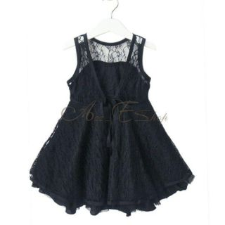 Girls Baby Toddlers Lace See Through V Back Party Tutu Dress Skirt Outfit Sz 3T