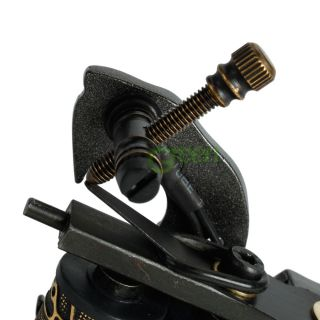 New 10 Wrap Coils Aluminum Alloy Tattoo Machine Liner Shader Gun C 14