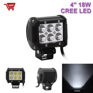 18W CREE 4inch LED Light Bar 1260LM Spot Beam Offroad Work Lamp Save on 27W 35W