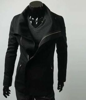 2013 Korean Mens Slim Fit Premium Zipper Jacket Blazer Coat Zip Up New