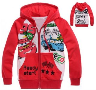 Toddlers Kids Boys Girls Cars Lightning McQueen Zipper Hoodies Clothes Aged 2 8Y