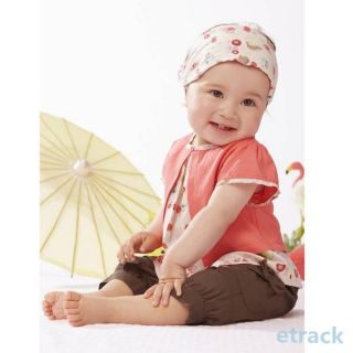 Fruits Pattern 3 Pcs Kids Baby Girls Top Pants Hat Set Outfits Clothes 0 3 Years