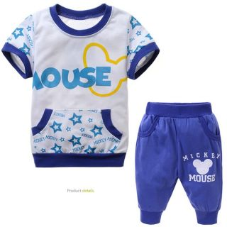 New Baby Kids Boys T Shirt Short Pants Set Cartoon Clothing Outfits Size 2 8T K4