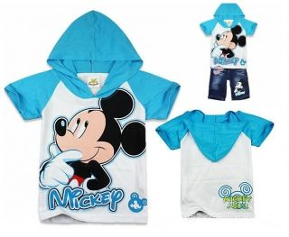 Mickey Mouse Toddlers Kids Boys Girls Hoodies T Shirt Jean Shorts Suits 2 8Y