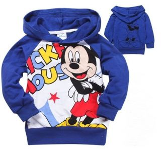 Toddlers Kids Boys Girls Mickey Minnie Mouse Funny Hoodies Clothes Aged 2 8Y
