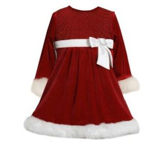 Bonnie Jean Baby Santa Christmas Dress Sizes 12 18 24 Months Pageant Clothes