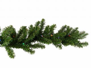 "9' x 10"" Pre Lit Battery Operated Christmas Garland Multi LED Lights"