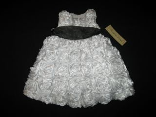 "New ""Pure White Roses"" Dress Girls Baby Clothes 2T Spring Summer Boutique 1 PC"