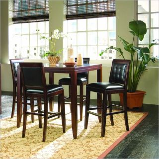 American Drew Tribecca Bar Table 5 Piece Pub Set in Root Beer   912 692 912 707 5PcPub Set