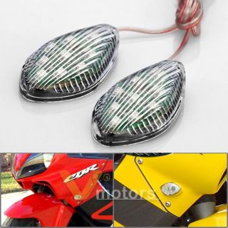 2X High Power 9 SMD LED Custom Turn Signal Light Blinker Motorcycle Street Bike