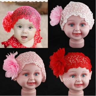 FreeShip New Flower Headband Baby Girl Elastic Hairband Hair Accessories 3 Color