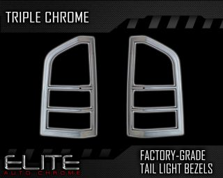 05 2012 Nissan Pathfinder 2pc Chrome Tail Light Bezels