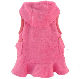 New Girls Vest Tops Kid Coral Velvet Rabbit Princess Dress 2 7Y Clothes AD043