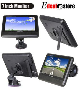 "2 4G Wireless License 7"" LCD Monitor Back Up Reverse Car Rear View Camera Kit"
