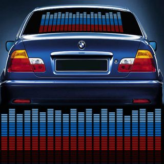 New Car Auto Sticker Music Rhythm LED Flash Light Lamp Sound Activated Equalizer