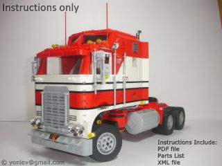 Lego Custom Model 1978 Kenworth Truck PDF Instructions Technic City Diesel