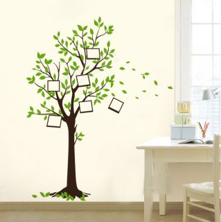 Photo Frame Tree Birds Wall Stickers Decals Decor Art Mutural Removable 90 60cm
