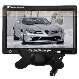 Car 7 inch TFT LCD Color Monitor 2CH Video Input F CCTV